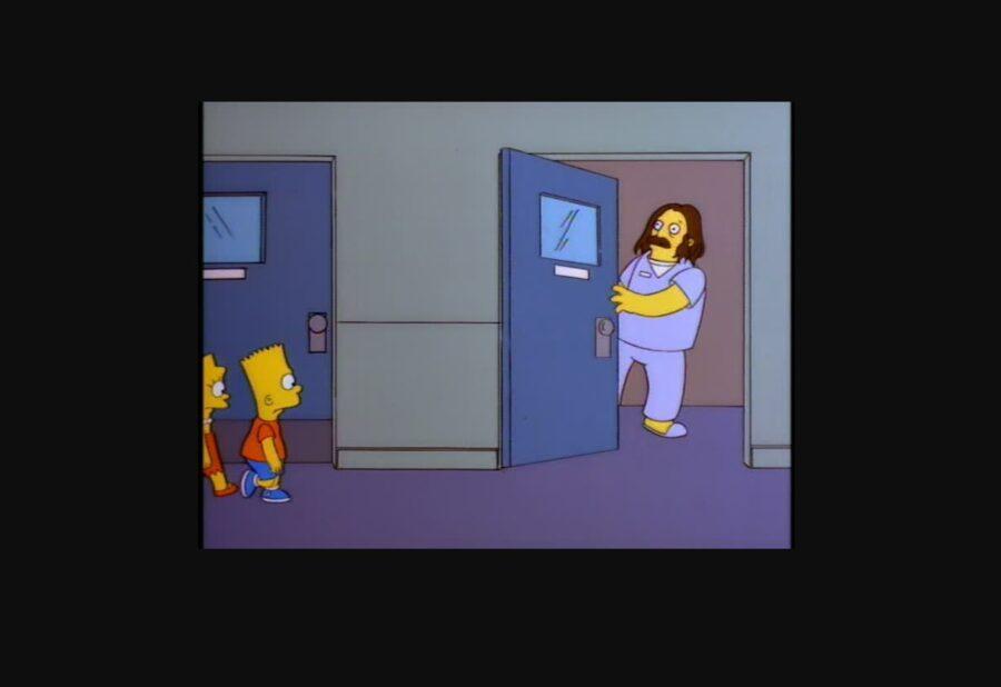 "John Swartzwelder. Shot from ""The Simpsons"""